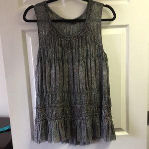 Theory silk ruffle blouse
